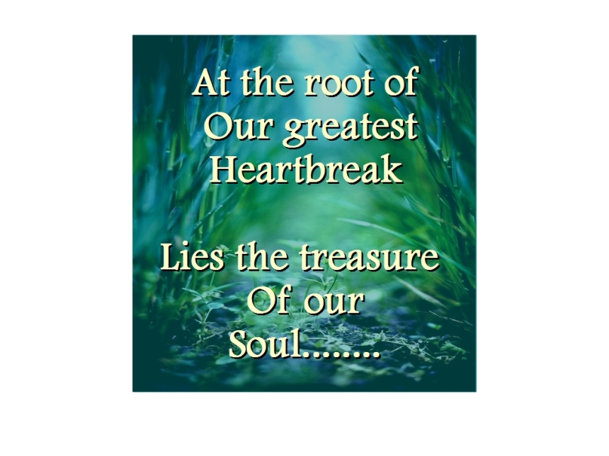 The healing of our soul...