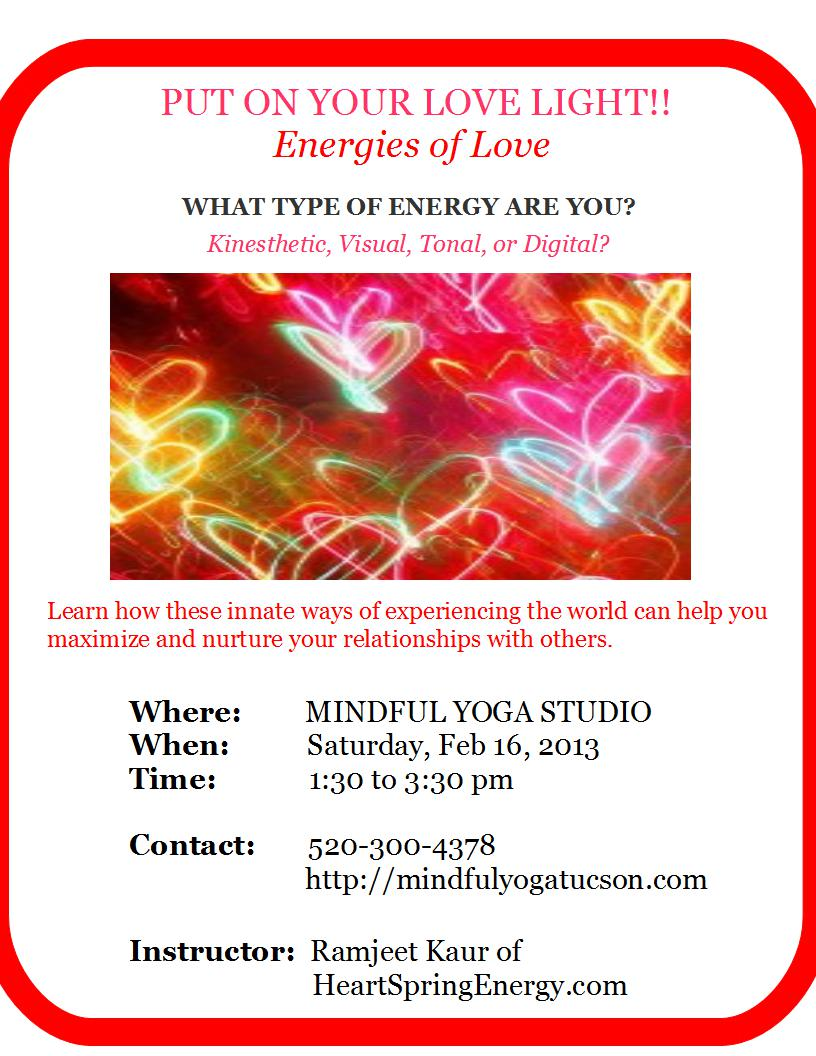 Put On Your Love Light!  Energies Of Love