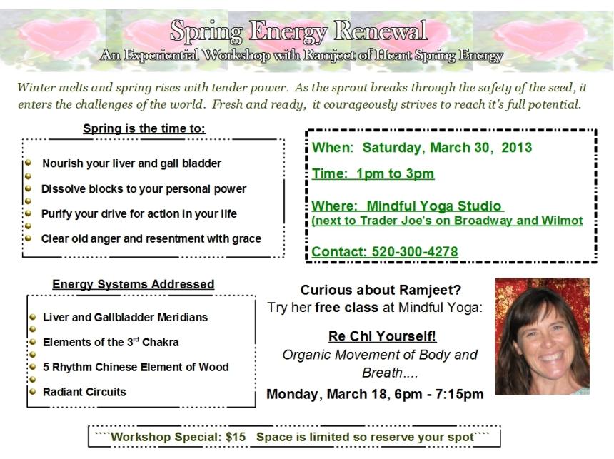 Spring Energy Renewal Workshop