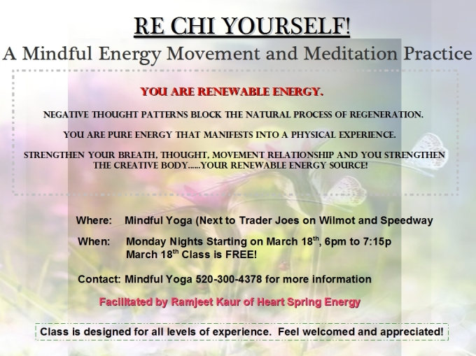 RE CHI YOURSELF! A Mindful Energy Movement  and Meditation Class