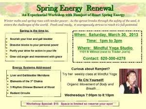 Use the Energies of Spring to keep you  feeling well and vibrant!
